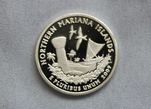 2009 S NORTHERN MARIANA ISLANDS SILVER PROOF US TERRITORIES ULTRA DEEP CAMEO