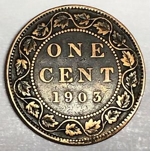7015C      CANADA  LARGE CENT  COIN   1903