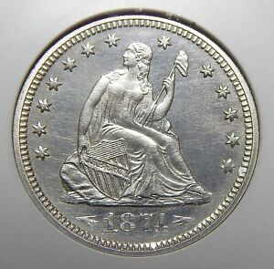 Click now to see the BUY IT NOW Price! 1874 NGC PF64 ARROWS SEATED LIBERTY QUARTER