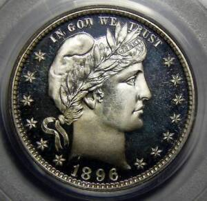 Click now to see the BUY IT NOW Price! 1896 PCGS PR68 DEEP CAMEO BARBER QUARTER   BRUCE SCHER COLLECTION