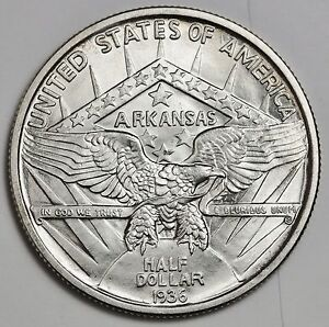 1936 ROBINSON ARKANSAS HALF DOLLAR.  COMMEMORATIVE.  CHOICE B.U.  110899