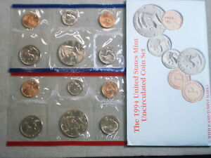 1994 U.S. UNCIRCULATED MINT SET IN ORIGINAL ENVELOPE
