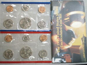 1995 U.S. UNCIRCULATED MINT SET IN ORIGINAL ENVELOPE