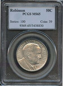 1936 50C MS 65 ARKANSAS ROBINSON PCGS BU UNCIRCULATED COMMEMORATIVE HALF DOLLAR