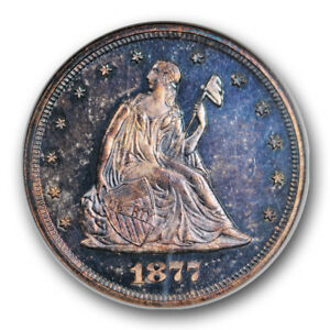 Click now to see the BUY IT NOW Price! 1877 TWENTY CENT PIECE 20C NGC PR64 CAC APPROVED PROOF ONLY ISSUE