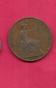 GREAT BRITIAN GB KM794.2 1903 FINE NICE LARGE OLD ANTIQUE BRONZE PENNY COIN