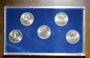 2001 COMMEMORATIVE STATE QUARTER SET OF 5 GEMS  $2.77 SHIPPING ADD'L ITEMS FREE