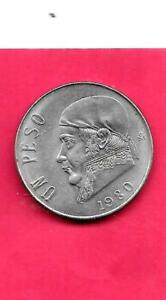 MEXICO MEXICAN KM460 1980 UNCIRCULATED UNC MINT OLD VINTAGE LARGE PESO COIN