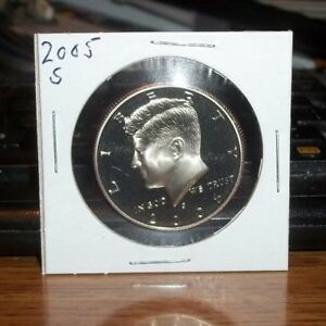 2005 S CLAD PROOF KENNEDY HALF DOLLAR 50 CENTS