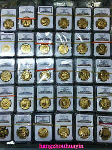 Click now to see the BUY IT NOW Price! MASTER SET 1982 TO 2015 PANDA 1.9OZ GOLD COINS ALL 169 COINS IN NGC MS69