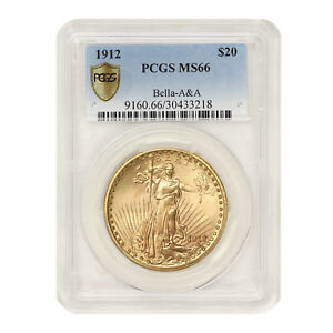 Click now to see the BUY IT NOW Price! 1912 $20 GOLD SAINT GAUDENS PCGS MS66 BELLA A&A