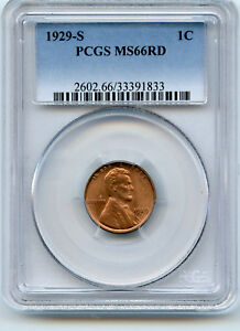 Click now to see the BUY IT NOW Price! 1929 S LINCOLN PENNY 1C PCGS MS 66 RED