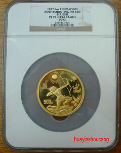 Click now to see the BUY IT NOW Price! 1997 CHINA 5OZ HOU YI SHOOTING THE SUN SERIES 2 GOLD COIN NGC PF69 ULTRA CAMEO