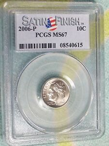 2006 P FRANKLIN D. ROOSEVELT DIME PCGS MS 67 SF   NICE WHITE COIN