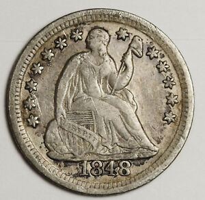 1848 O LIBERTY SEATED HALF DIME.  X.F.  117288