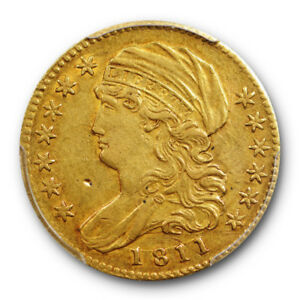 1811 $5 SMALL 5 CAPPED BUST HALF EAGLE PCGS AU 50 ABOUT UNCIRCULATED