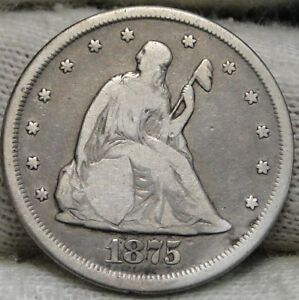 1875 CC TWENTY CENT PIECE 20 CENTS    NICE COIN .  6549