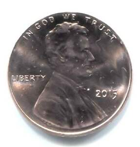 U.S. 2015 LINCOLN SHIELD PENNY   UNCIRCULATED ONE CENT COIN   PHILADELHIA MINT