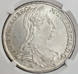 Click now to see the BUY IT NOW Price! 1780 AUSTRIAN STATES BURGAU MARIA THERESA. SILVER THALER COIN. TOP  NGC MS64