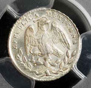 Click now to see the BUY IT NOW Price! 1867 MEXICO  2ND REPUBLIC . SILVER 5 CENTAVOS   REAL  COIN. PCGS MS 63