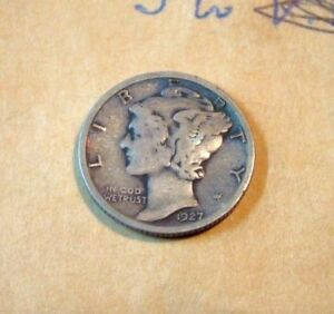 1927 MERCURY DIME I COMBINE SHIPPING ALL AUCTIONS WON IN 24 HOURS