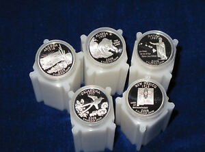 Click now to see the BUY IT NOW Price! 2008 S STATEHOOD SILVER QUARTER GEM DCAM PROOF ROLL SET OF 5 ROLLS