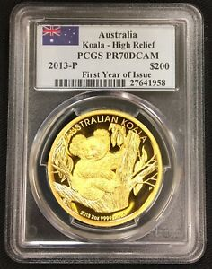 Click now to see the BUY IT NOW Price! 2013 AUSTRALIA KOALA HIGH RELIEF $200 DOLLAR GOLD PROOF 2OZ COIN PCGS PR70DCAM