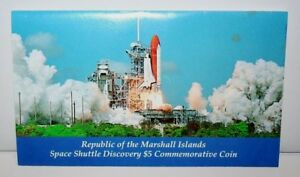 1988 REPUBLIC OF MARSHALL ISLANDS $5 SPACE SHUTTLE DISCOVERY COMMEMORATIVE COIN