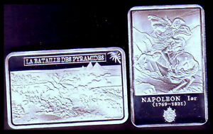 SILVER PLATED BAR : NAPOLEON AND THE BATTLE OF PYRAMIDS