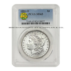 Click now to see the BUY IT NOW Price! ULTRA  1886 O $1 MORGAN PCGS MS65 PQ APPROVED BLAST WHITE SILVER DOLLAR