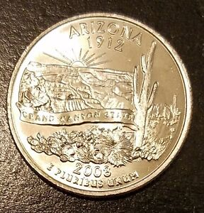 2008 P ARIZONA STATE QUARTER   FROM MINT ROLL  7271