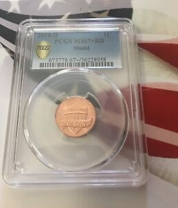 Click now to see the BUY IT NOW Price! 2018 D LINCOLN SHIELD CENT 1C PCGS 67 RD THIS IS A BEAUTIFUL COIN      TOP POP