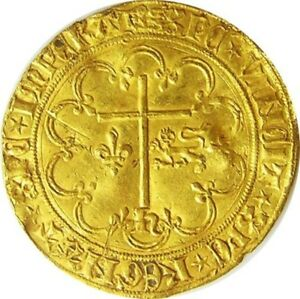 Click now to see the BUY IT NOW Price! MEDIEVAL ANGLO GALLIC GOLD SALUT D'OR OF ROUEN KING HENRY VI 1422   1453 A.D.