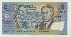 SAMOA 2 TALA ND 1990  PICK 31.H UNC UNCIRCULATED BANKNOTE SERIAL AAH