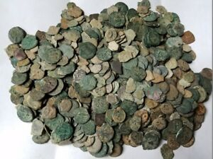 MEDIUM QUALITY UNCLEANED ANCIENT JUDAEA JEWISH BIBLICAL COINS PER COIN BUYING