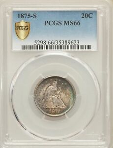 Click now to see the BUY IT NOW Price! 1875 S US SILVER 20C SEATED LIBERTY TWENTY CENT PIECE   PCGS MS66