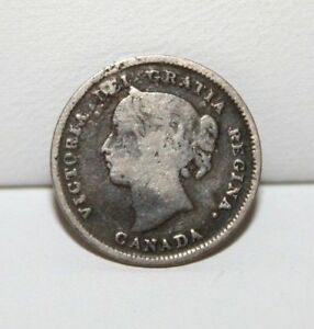 1899 CANADA 5C FIVE CENTS SILVER COIN