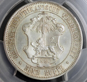 Click now to see the BUY IT NOW Price! 1890 GERMAN EAST AFRICA  DOA . COLONIAL SILVER RUPIE  RUPEE  COIN. PCGS UNC