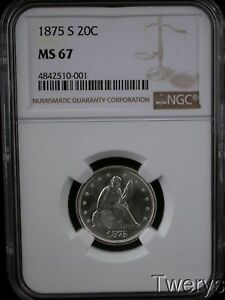 Click now to see the BUY IT NOW Price! 1875 S TWENTY CENT PIECE 20 CENTS NGC MS 67