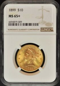 Click now to see the BUY IT NOW Price! 1899 EAGLE   MOTTO $10 NGC MS65