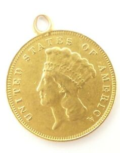 BARGAIN 1878 INDIAN PRINCESS HEAD $3 GOLD PIECE EXTRA FINE