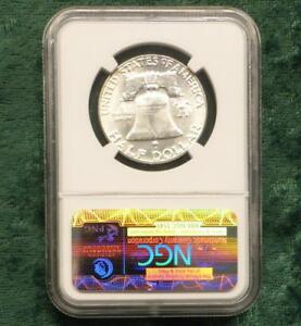 1963 NGC MS64 BEN FRANKLIN SILVER HALF DOLLAR MS 64 SILVER .50 CENT COIN
