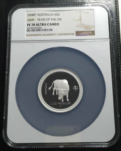 Click now to see the BUY IT NOW Price! 2009 AUSTRALIA 2 OZ SILVER NGC PF70UC LUNAR YEAR OF THE OX  SERIES I