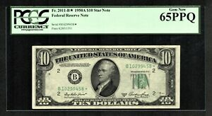 $10 1950A FEDERAL RESERVE  STAR  NOTE NEW YORK   B  PCGS GEM NEW 65PPQ