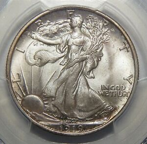 Click now to see the BUY IT NOW Price! 1919 PCGS MS66 WALKING LIBERTY HALF DOLLAR