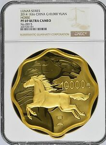Click now to see the BUY IT NOW Price! 2014 LUNAR SERIES HORSE 1KG KILO GOLD COIN G10000Y NGC PF69 ULTRA CAMEO WITH COA