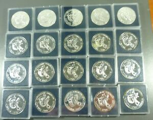Click now to see the BUY IT NOW Price! LOT: 20 CANADA 1983 EDMONTON SILVER DOLLARS $1.00 BU IN CAPSULES