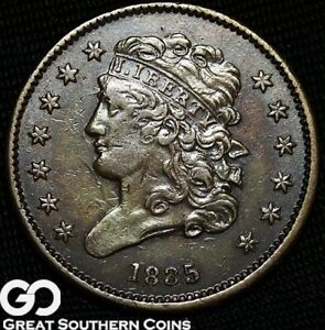 1835 HALF CENT CLASSIC HEAD NICE EARLY COPPER TYPE