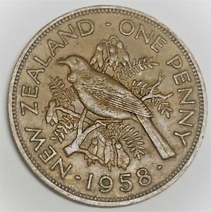 C8231      NEW ZEALAND    COIN     LARGE PENNY   1958