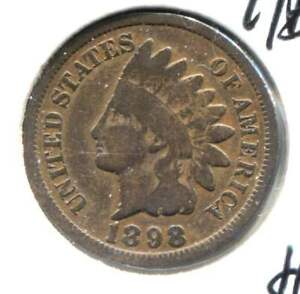 1898 INDIAN HEAD PENNY   U.S. AMERICAN ONE CENT COIN